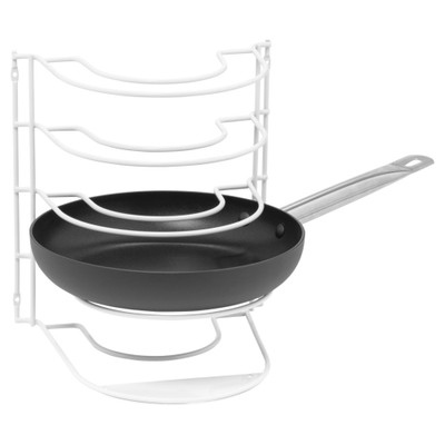 Howards Powder Coated Wire Tiered Pot & Pan Rack - White
