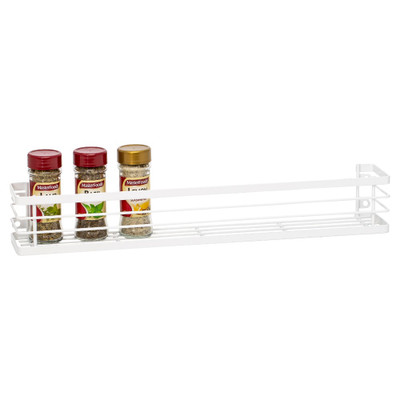 Howards Powder Coated Wire Wall Mountable Spice Rack Large - White