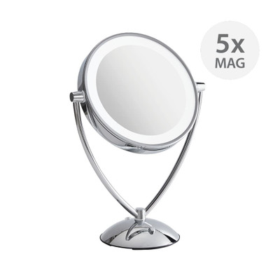 Double Sided Pedestal LED Mirror