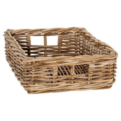 Rattan Rectangular Storage Basket - Medium