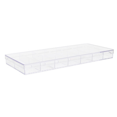 Howards Stackable Organiser 14 Compartments Narrow - Clear