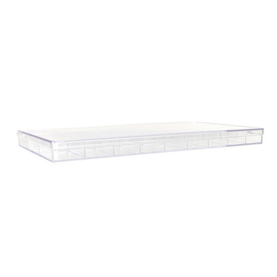 Howards Stackable Organiser 27 Compartments Narrow- Clear
