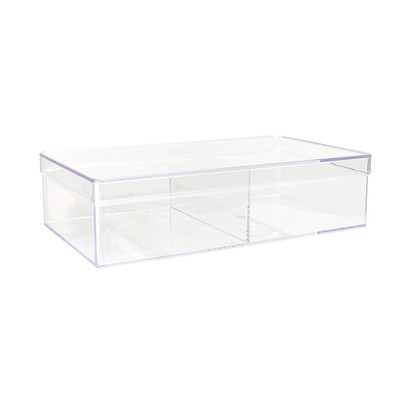 Howards Stackable Organiser 2 Compartments Deep - Clear