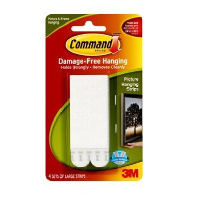 Command Large Picture Hanging Strips - Black