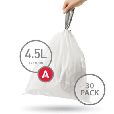 simplehuman Bin Liner 4.5L Code A - 30 Pack