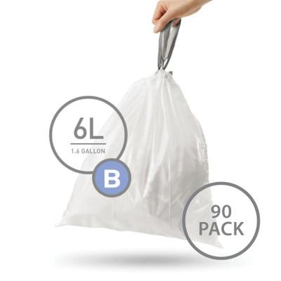 simplehuman Bin Liner 6L Code B - 90 Pack