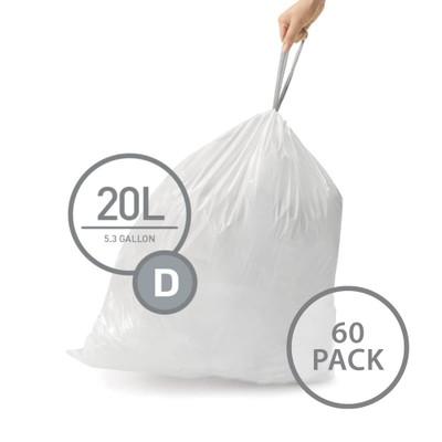 simplehuman Bin Liner 20L Code D - 60 Pack