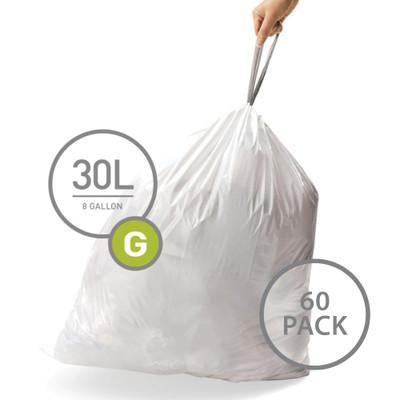 simplehuman Bin Liner 30L Code G - 60 Pack