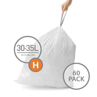 simplehuman Bin Liners 30-35L Code H - 60 Pack