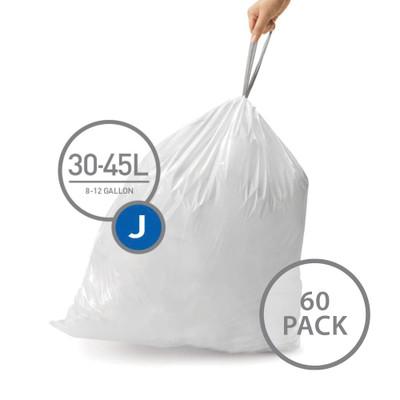 simplehuman Bin Liner 30-45L Code J - 60 Pack