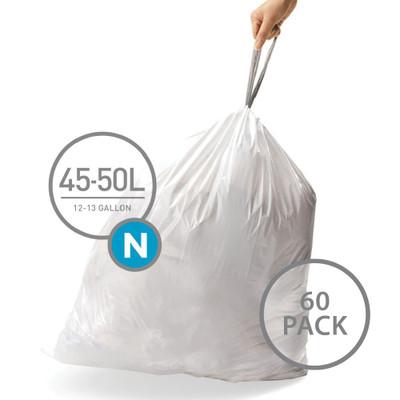 simplehuman Bin Liner 45-50L Code N - 60 Pack