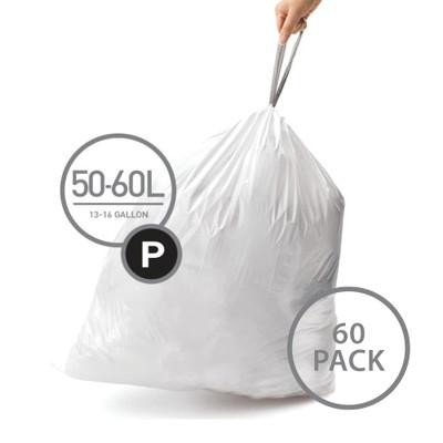 simplehuman 50L Bin Liner Code P - 60 Pack