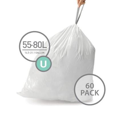 simplehuman Bin Liner 55L Code U - 60 Pack