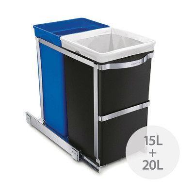 simplehuman 35L Pull Out Under Counter Recycler Bin