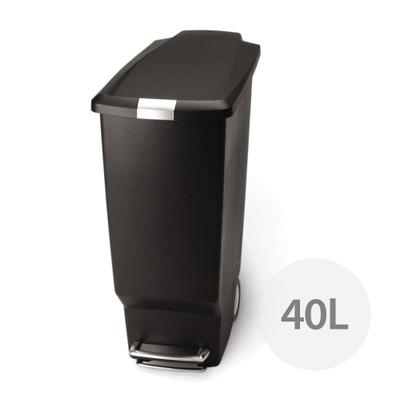 simplehuman Slim Rectangle Step Rubbish Bin 40L - Black