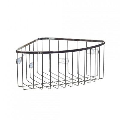 iDesign Stainless Steel Suction Corner Basket