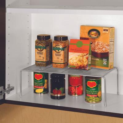 Seville Stacking Cabinet Pantry Shelf Extra Large - Silver Mesh