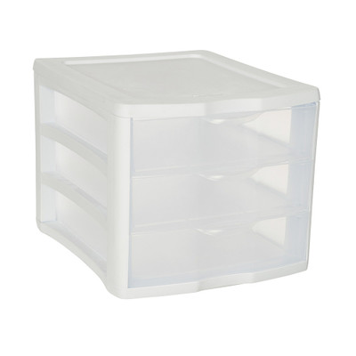 Sterilite Clearview 3 Drawer Unit