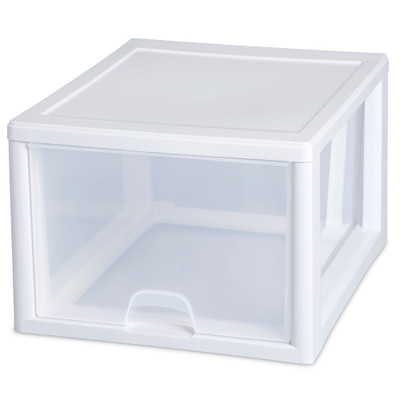 Sterilite Clear Stacking 25L Drawer
