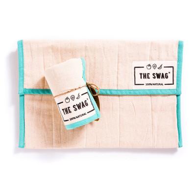 The Swag Produce Storage Bag Small - Aqua Trim