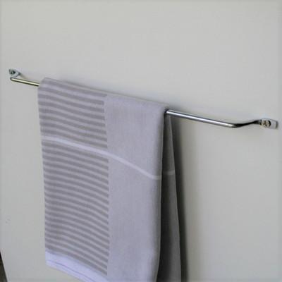 Tansel Door Mount Single Tea Towel Rack - Stainless Steel