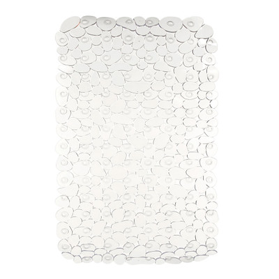 iDesign Pebblz Bath Mat Clear