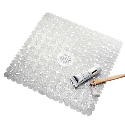 iDesign Pebblz Shower Mat Clear