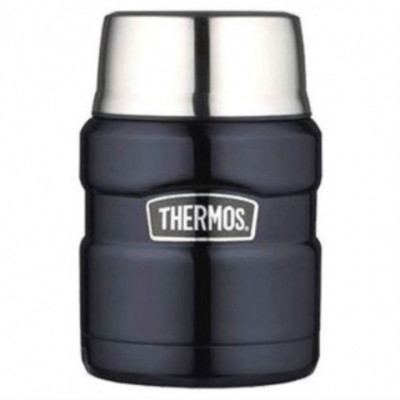 Thermos Stainless King Vacuum Insulated Stainless Steel Food Jar 470ml - Midnight Blue