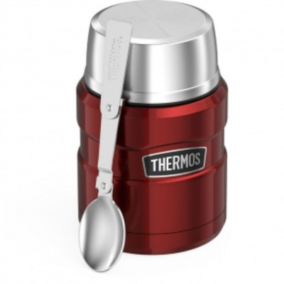 Thermos Stainless King Vacuum Insulated Stainless Steel Food Jar 470ml - Cranberry Red