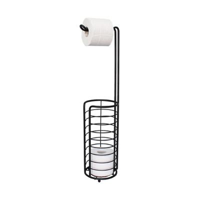 Wire Bathroom Toilet Roll Dispenser and Holder - Black