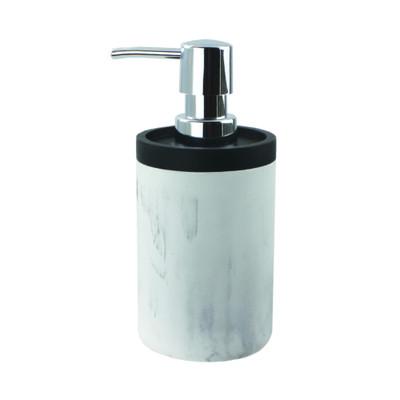 Marble Look Bathroom Soap/Lotion Pump with Black Trim