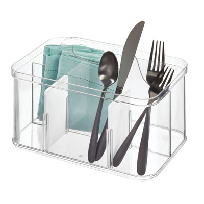 iDesign Crisp Cutlery Caddy with Handle