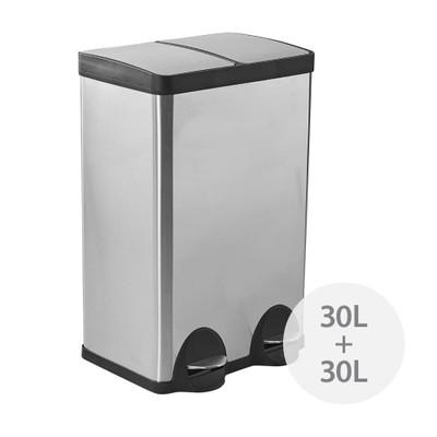 Howards Dual Recycler Pedal Bin - 60L
