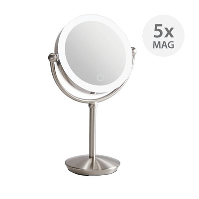 Signature Collection LED 5x/1x Magnification Makeup Mirror - Nickel