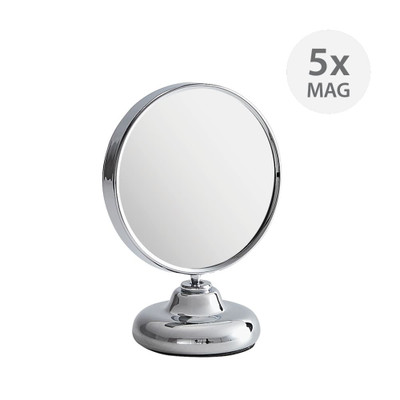 Double-Sided 5x Magnification Makeup Mirror