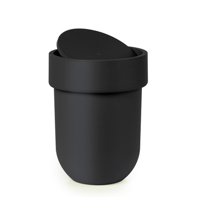 Umbra Touch Waste Bin with Lid - Black