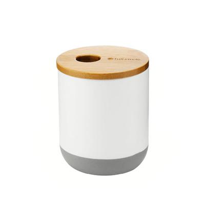 Full Circle Bathroom Canister - White
