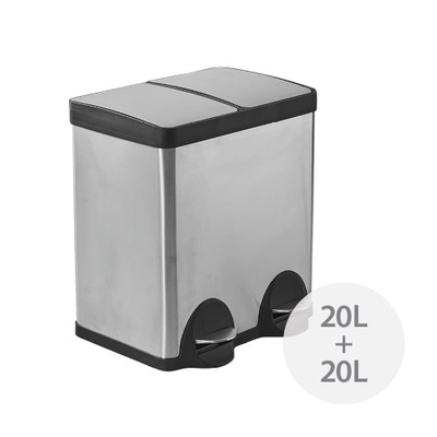 Howards Dual Recycler Pedal Bin - 40L