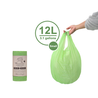 White Magic Eco Basics 20 Biodegradable Rubbish Bin Bags - 12L