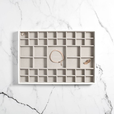 Stackers Supersize Jewellery Box Tray 41 Compartment - White