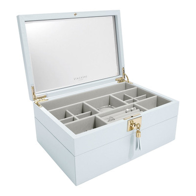 Stackers Jewellery Box Set with 3 Tray Layers - Blue