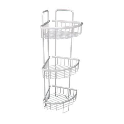 Bathroom Aluminium Corner Shower Rack - 3 Tier