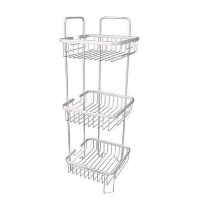 Bathroom Aluminium Square Shower Rack - 3 Tier