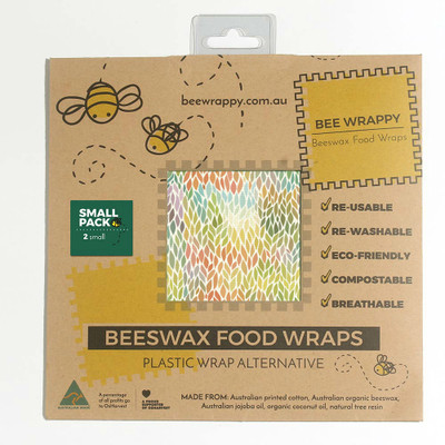 Bee Wrappy Beeswax Food Wraps 2 Pack - Small