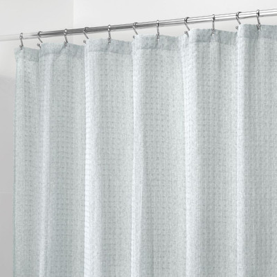 iDesign Shower Curtain Waffle - Blue