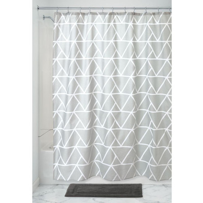iDesign Shower Curtain Triangles - Grey