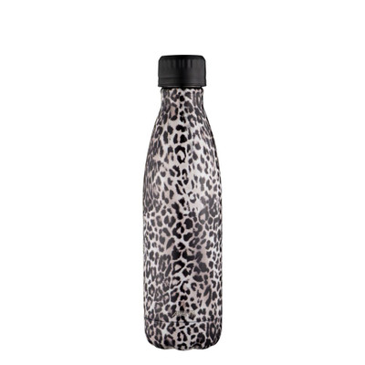 Avanti Fluid Vacuum Stainless Steel Drink Bottle 500ml - Leopard