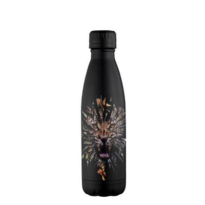 Avanti Fluid Vacuum Stainless Steel Drink Bottle 500ml - Smashing Leopard