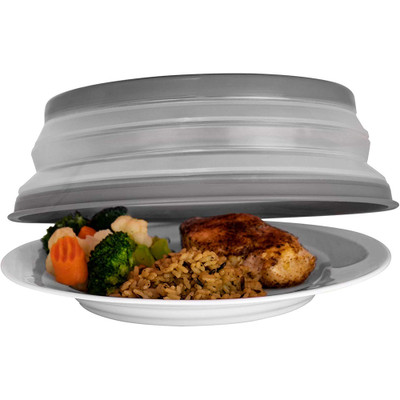 Tovolo Collapsible Microwave Food Cover - Charcoal