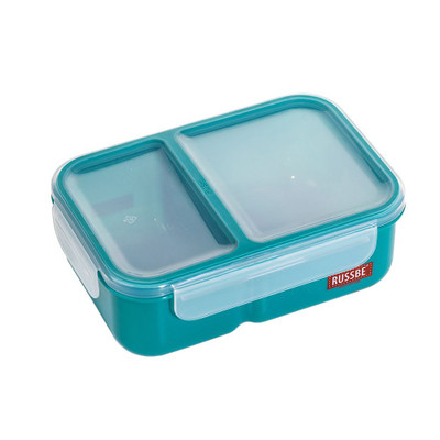 Russbe Inner Seal Bento Lunch Box Deep 2 Compartment 1.1L - Teal